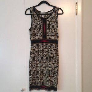 Carmen Marc Volvo has patterned dress. NWOT